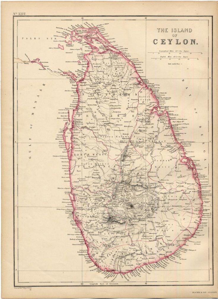 Ceylon Map